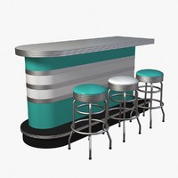 bar furniture 3d model