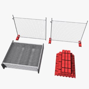 3d model construction fence sets