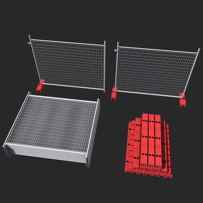 3d model construction fence sets