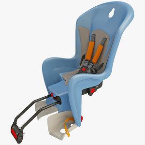 bike child seat polisport 3d c4d