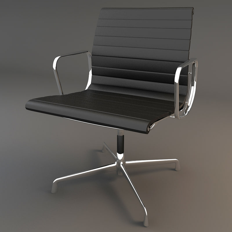 3d model eames aluminium chair