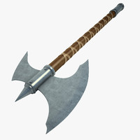 3d model battle axe
