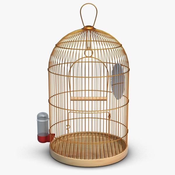 birdcage cage bird 3ds