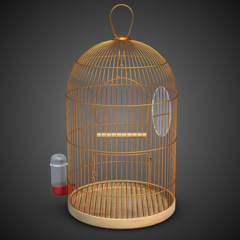 birdcage cage bird 3ds
