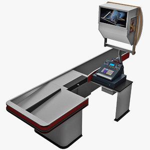 3d model cash counter 12