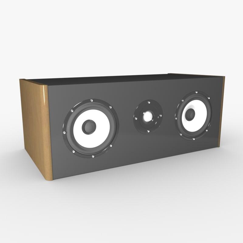 center speaker 3d max