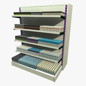 deodorant shopping shelf 3d model