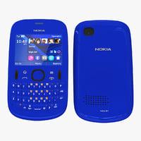 Nokia Asha 201 Blue