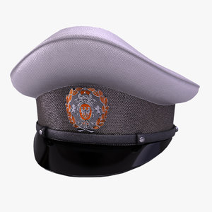 peaked cap 3d model
