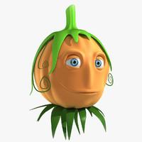 3d pumpkin head model