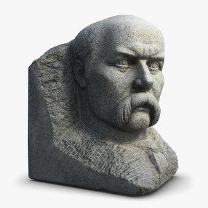 3d model taras shevchenko sculpture