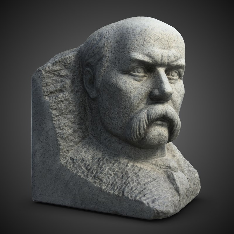 3d model taras shevchenko sculpture