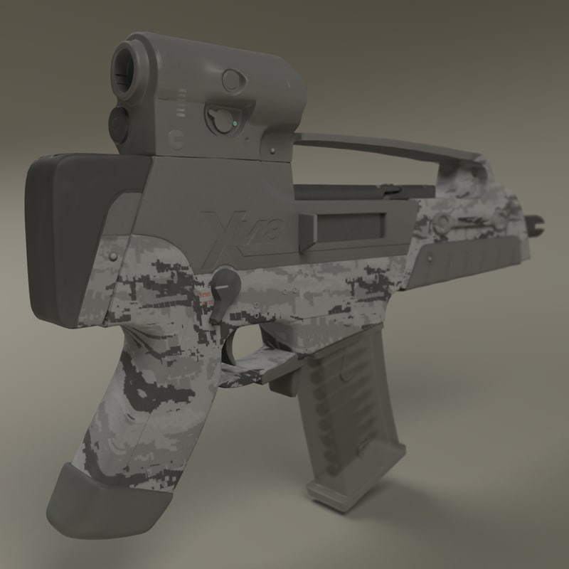 compact assault rifle 3d model