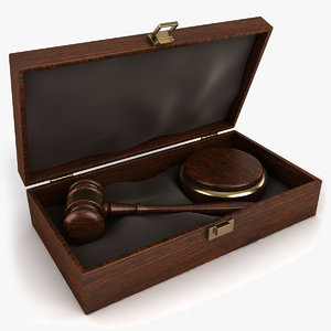3d law gavel set model