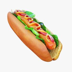 3d hot dog