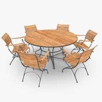 classical patio furniture set 3d model