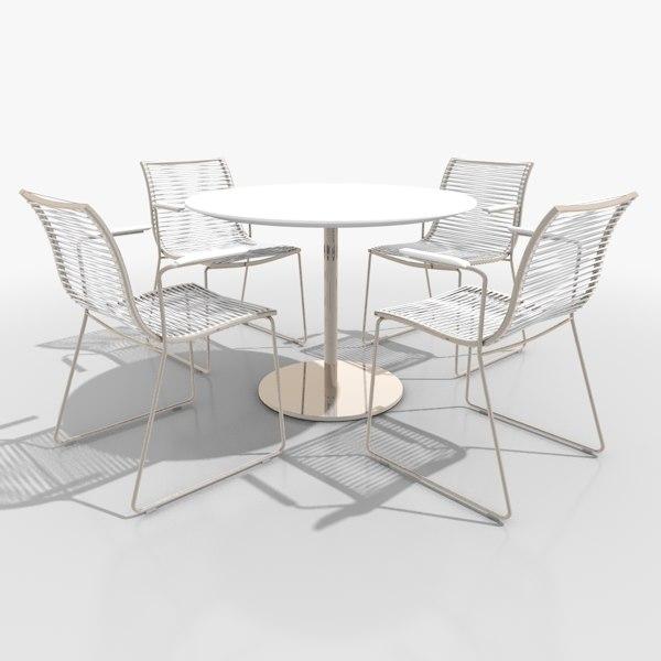 3d model filigree patio furniture set