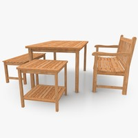 3d garden patio furniture set