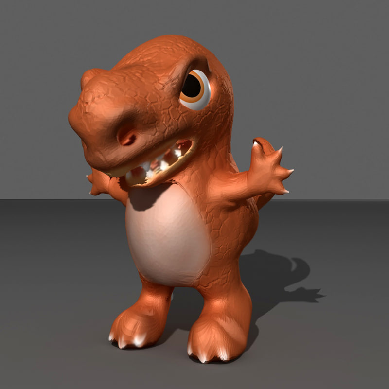 3ds max dinosaur cartoon