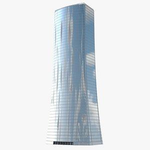 3d model skyscraper scene