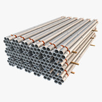 3d model seamless steel pipe