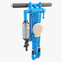 hand held rock drill 3d max