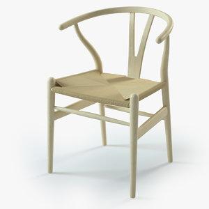 3d wishbone chair model