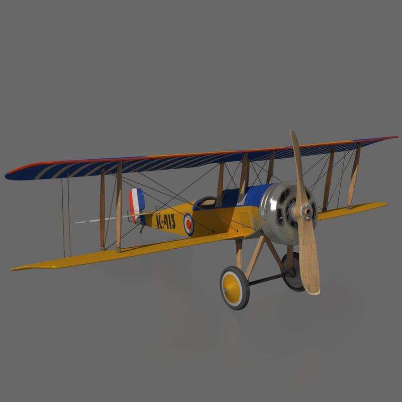3d historic airplane