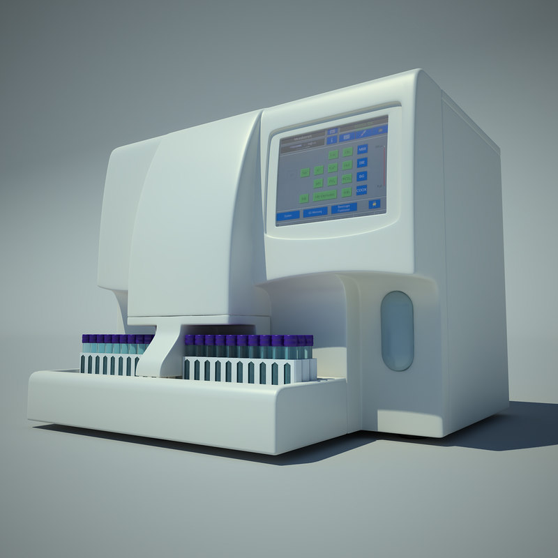 3d model of hemoglobin analyzer