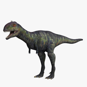 3d model majungasaurus