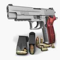 sig sauer p226 pistols 3d model
