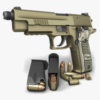 3ds max sig sauer p226 pistols