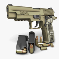 sig sauer p226 pistols 3d max