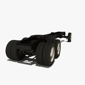truck chassis 3d model