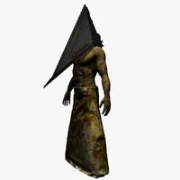 3d model scene pyramid head