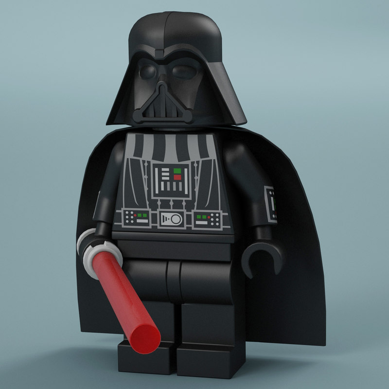 lego darth vader 3d model