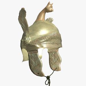 ancient greek helmet bc obj