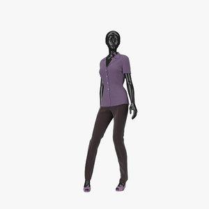 showroom mannequin 07 3d model