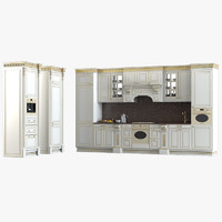 classic baroque kitchen 3d max