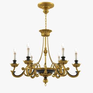 rosbri visconti chandelier 3d 3ds
