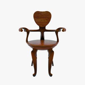 bd barcelona calvet chair 3d 3ds