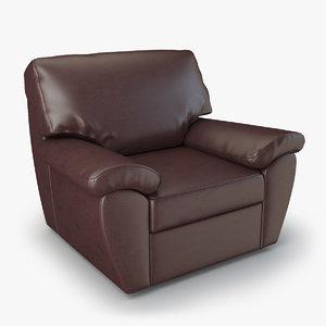 armchair senator chair furniture 3d max