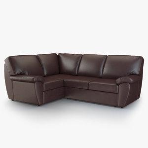 3d corner sofa senator model