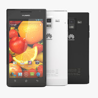 huawei ascend p1 black 3d model