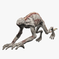Mutated Zombie Monster Rigged and Animated