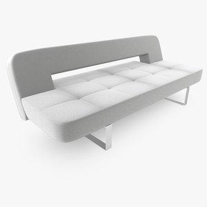 3d model of studio couch sofa luxe