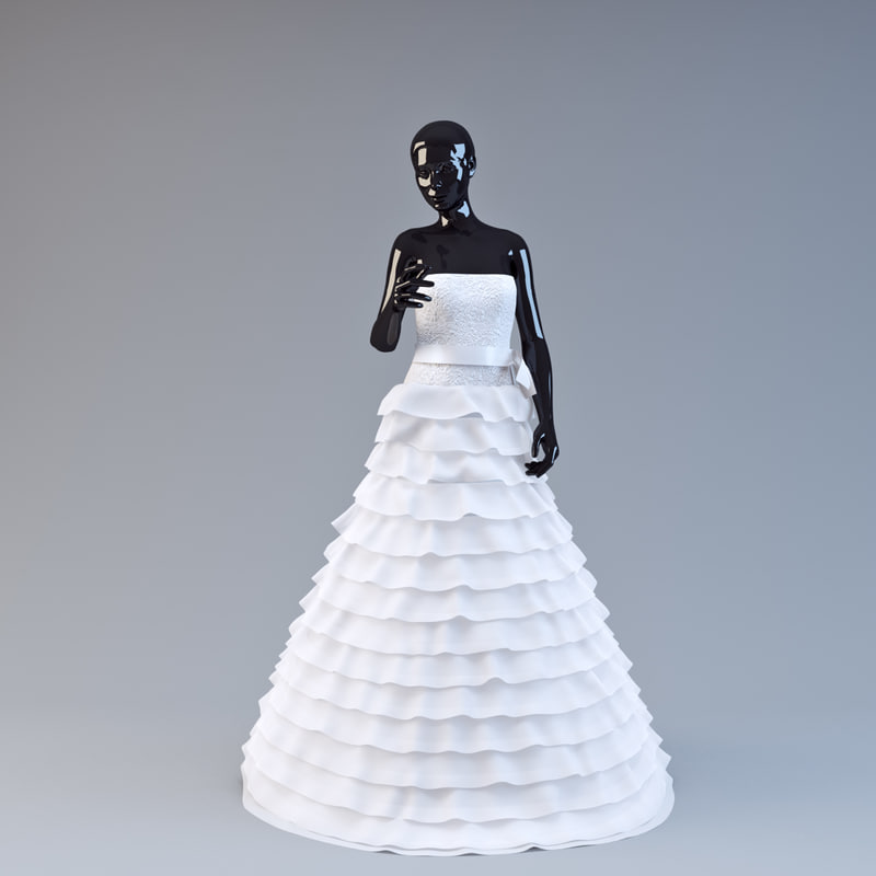 3d model showroom wedding dress