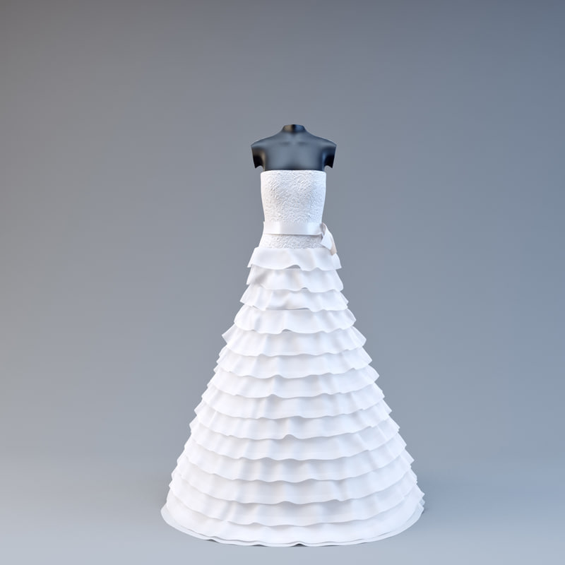 3d model wedding dress v2