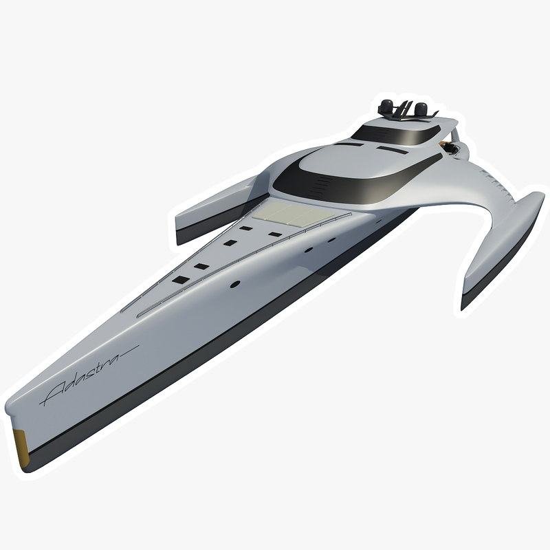 adastra luxury yacht 3d model