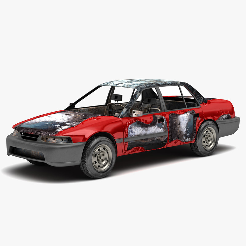 destroyed car 3 3d 3ds